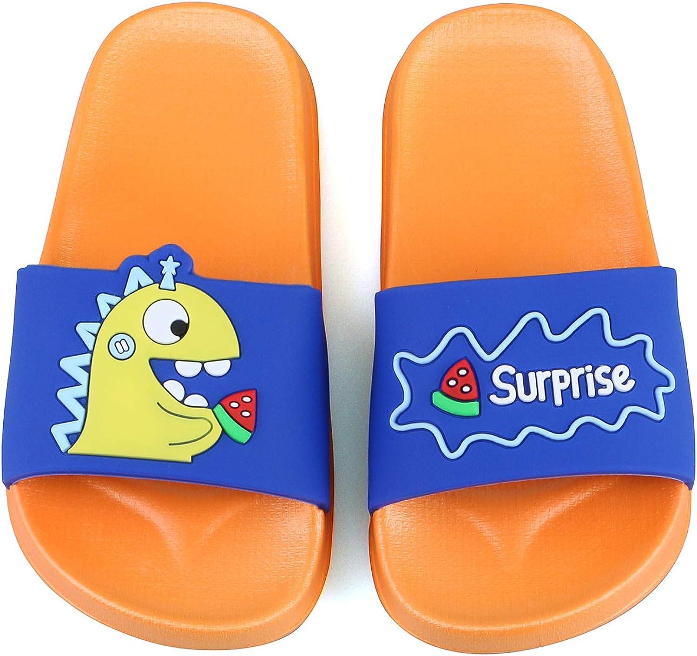 Boys Girls Cute Slide Sandals Summer Kids Water Shoes Bathroom Beach Pool Slipper Non-Slip Sandal Slippers for Unisex