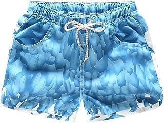 ZiXing Womens Sports Swim Shorts Boyleg Board Bottoms Swimwear Swimsuits Adjustable Waist Beach Shorts