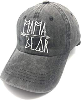 Waldeal Embroidered Mama Bear Vintage Distressed Baseball Dad Hats Cap Grateful Thankful Gift for Mom Grandma