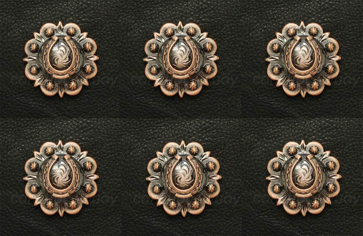 Raleigh Mall Conchos Leathercraft Accessories Set of Horse Elegant Western T 6 Saddle