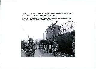 Vintage photo of Royal Irish Ranger troops on border patrol
