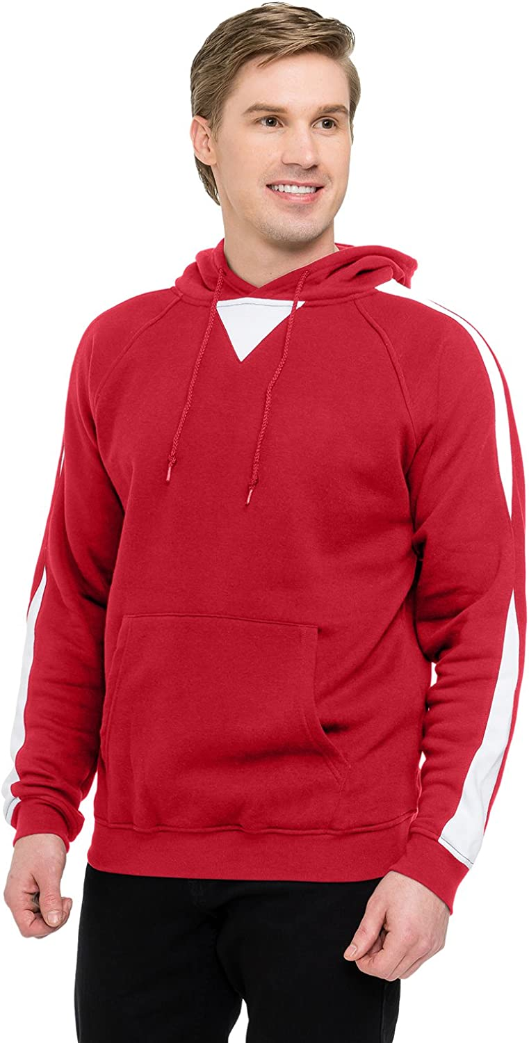 Big and Tall Fashion Pullover Fleece Red and Royal up to Size 6X