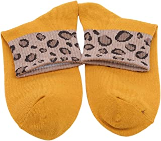 VWH Women Vintage Style Winter Ultra Soft Warm Thick Leopard-Print Cotton Socks