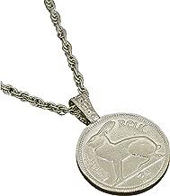 American Coin Treasures Lucky Rabbit Coin Pendant Necklace