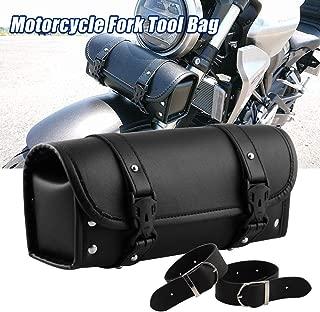Sporacingrts Motorcycle Fork Bag Handlebar Bag Sissy Bar Tool Bag for Yamaha Honda Sportster Softail Dyna Kawasaki Suzuki Ducati KTM Roll Tool Bag