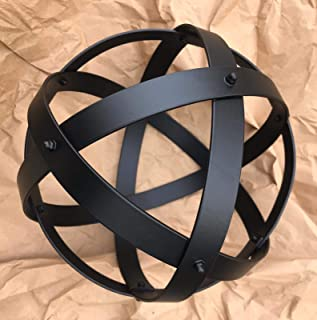 Genesa Crystal Black Alluminio Naturale verniciato a forno nero opaco, 21cm di diametro, fasce larghe 20mm e spesse 2mm fi...