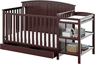 Storkcraft Steveston 4-in-1 Convertible Crib and Changer with Drawer, Espresso Easily Converts to Toddler Bed, Day Bed or Full Bed, 3 Position Adjustable Height Mattress