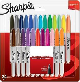 Sharpie permanentne markery | drobne punkty | różne kolory | liczba 24