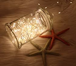 WSgift 2 Pack 20 Feet 60 Warm White Led Fairy Lights Battery Operated with Remote Control Timer Waterproof Silver Copper Wire Twinkle String Lights for Bedroom Indoor Outdoor Wedding Dorm Decorations