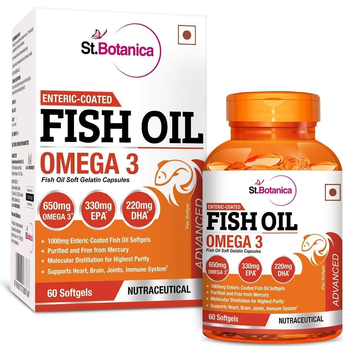 StBotanica Fish Oil is the best fish oil capsules in India