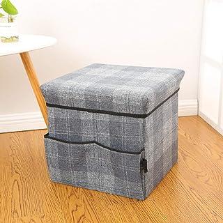 MJY Panier à linge, gris foncé carré minimaliste Panier à linge Design de mode épais, grande capacité, sac de rangement pl...