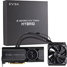 """EVGA GeForce GTX TITAN X 12GB HYBRID GAMING, """"All in One"""" No Hassle Water Cooling, Just Plug and Play Graphics Card 12G-P4..."""