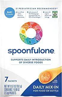 SpoonfulOne Early Allergen Introduction Mix-Ins | Smart Feeding for an Infant or Baby 4+ Months | Certified Organic (7 Pac...
