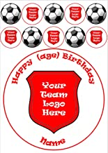 """Your team logo football club 7.5"""" inch cake topper with"""