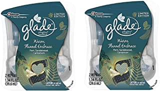 Glade PlugIns Scented Oil Air Freshener, Warm Flannel Embrace, 2 Refills (Pack of 2)