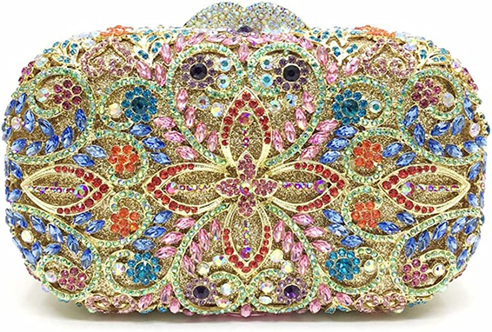 Women Handbag Recommendation Colorful Evening Max 66% OFF Party Artificial with Diamon Bags