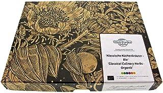 Juego de semillas de hierbas aromáticas clásicas (ecológicas) de regalo con 5 variedades de hierbas esenciales.