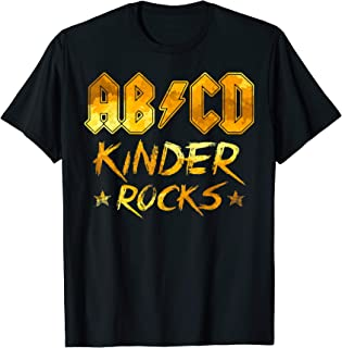 Funny ABCD Kinder Rocks Shirt For Teacher Student Gifts T-Shirt