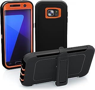 TOUGHBOX Galaxy S7 Edge Case, [Armor Series] [Shock Proof] [Black | Orange] for Samsung Galaxy S7 Edge Case [Holster & Bel...