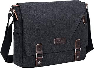 S-ZONE 14 inch Laptop Messenger Bag Mens Canvas Satchel Shoulder Crossbody Bag