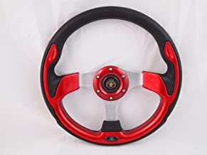 RED Steering Wheel with Adapter for RZR 570 800 900 1000