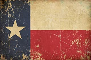 Flag of Texas Old Scratched Aged Vintage Cool Wall Decor Art Print Poster 24x36