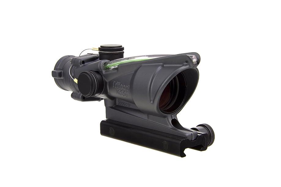 Trijicon ACOG TA31-D-100311 4x 32 Dual Illuminated Green Chevron .223 BAC Reticle Scope, Sniper Gray
