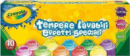 Crayola 3937 - 10 Témperas Lavables, Efectos Especiales