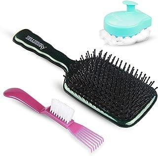 Hair Brush & Hair Scalp Massager Shampoo Brush-Paddle Detangle Brush and Hair brush Set for women men kids Woks Great On Wet or Dry hair Best Combination of shampoo brush and hair comb by AUOETOE
