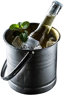 Double2C Ice Bucket, 1.3L Small Insulated Stainless Steel Champagne Bucket, Beverage Bucket, Beer Barrel Ice Holder for Party, Event, and Gathering