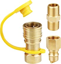 EXCELFU 3/8 Inch Natural Gas Quick Connect Fittings, LP Gas Propane Hose Quick Disconnect Kit