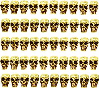 gold skull beads