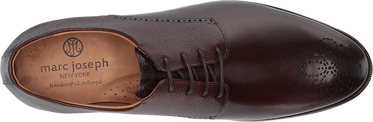 MARC JOSEPH NEW YORK Mens Leather Lace-up Wingtip Dress Shoe Oxford