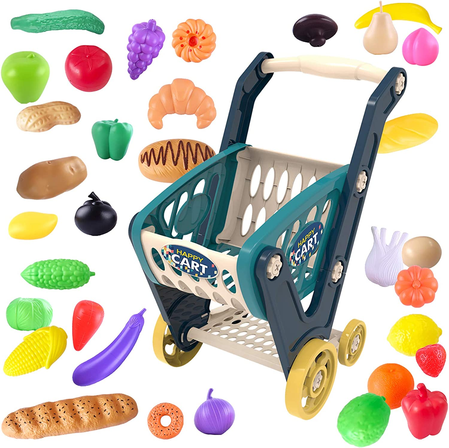 heruo Shopping Cart Toy Genuine Free Shipping for Supermarket Mini F Kids Grocery Tucson Mall