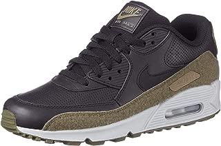 Air Max 90 Hal Premium Leather Running Shoe, Black/Black-Medium Olive, 11.5