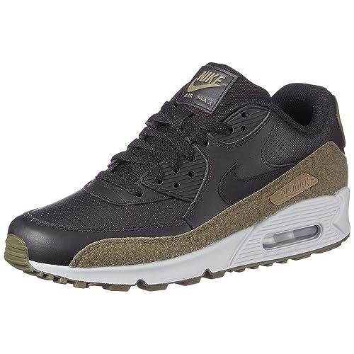 more photos dcdd0 2536b Nike Air Max 90 Hal Premium Leather Running Shoe, Black Black-Medium Olive