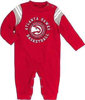 OTS Atlanta Hawks Infant Baby Fleece Footie Blanket Sleeper
