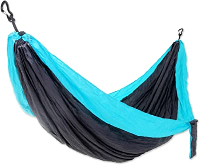 Amazon Com Hammock Sky Brazilian Double Hammock Two Person Bed For Backyard Porch Outdoor And Indoor Use Soft Woven Cotton Fabric Blue Green Stripes Garden Outdoor