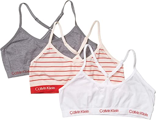 CK Red Black Stripe/White/Heather Gray