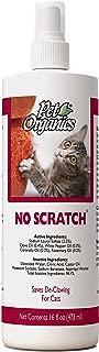 NaturVet – Pet Organics No Scratch Spray For Cats – 16 oz – Unique Formula Discourages Innate Desire To Claw – Safe for Use On Furniture, Carpets, Drapes, & Fabrics
