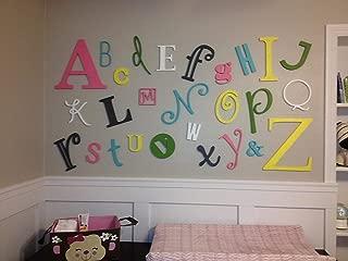 48 Hour Monogram Wooden Alphabet Set Natural (unpainted) - Large