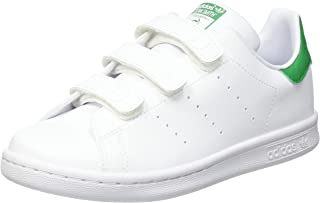 adidas Originals Stan Smith CF C, Baskets Mixte Enfant, Cloud White/Cloud White/Green, 33.5 EU