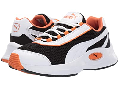 Puma Kids Nucleus (Big Kid) (PUMA White/Jaffa Orange) Boys Shoes