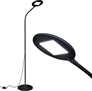 Brightech Contour Flex – Bright LED Floor Lamp for Reading, Crafts & Office..