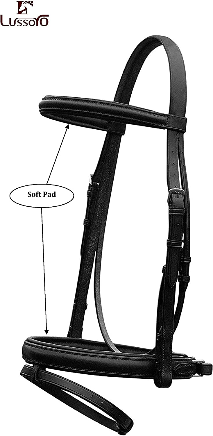 Lussoro Leather Snaffle Bridle with Horse Max 67% OFF English Reins Western Latest item