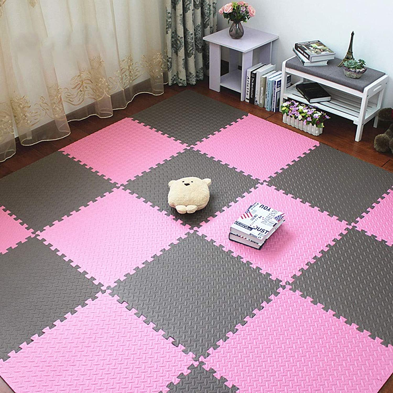 Web oficial Crawling Mat ZI Ling Ling Ling Shop- Alfombra Sala de EEstrella Dormitorio Niños Niños Suave Alfombra Remiendo mágico Jigsaw Juntas de Empalme Escalada para bebé (60x60x1.2cm) (Color   A, Talla   12 Pieces)  Descuento del 70% barato