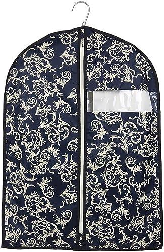 Aufbewahrungstaschen Xuan - Worth Another Dunkelblaue Blaumenmuster 5 Stück waschbar Kleidung Staubschutz Fenster Anzug abdecken hochwertige Koffer Tasche (Größe   60  120cm)
