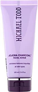 Michael Todd Jojoba Charcoal Facial Scrub Exfoliates and Remove Impurities for All Skin Types, 3.4 Fl Oz
