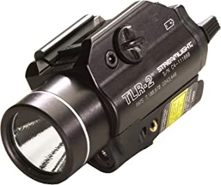 Streamlight 69120 TLR-2 C4 LED Rail Mounted Weapon Flashlight with Laser Sight, Black - 300 Lumens