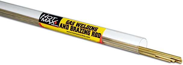 Hot Max 24004 3/32-Inch by 36-Inch Low Fuming Bare Bronze Brazing Rods, 12-Pack